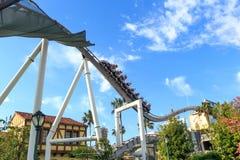 Achterbahn in Universal Studios, Osaka Japan Stockbild