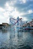 Achterbahn in Universal Studios Singapur Lizenzfreie Stockbilder