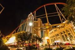 Achterbahn von New- Yorkhotel, Las Vegas Stockfotos