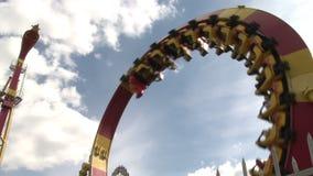 Achterbahn in Wien Prate stock video footage