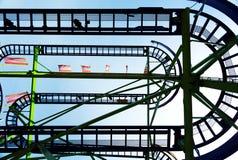 Achterbahn in Wien Prate Lizenzfreies Stockbild
