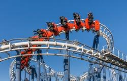 Achterbahnfahrt in Luna Park Lizenzfreie Stockfotografie