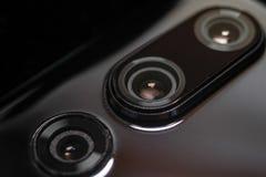 Achtercamera's voor smartphone of celtelefoon royalty-vrije stock afbeelding