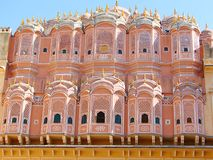 Achtereind van Hawa Mahal Palace, Jaipur, Rajasthan, India stock foto