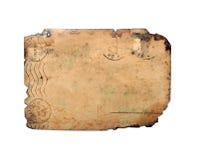 Achtereind van oude prentbriefkaar Stock Foto