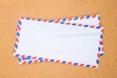 Achtereind van uitstekende envelop. Stock Foto