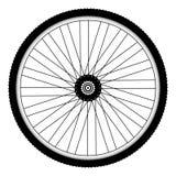 Achterfietswiel met spiked fietsband royalty-vrije illustratie