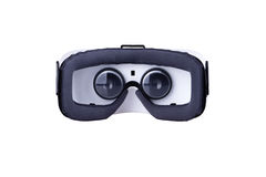 Achtergedeelte binnen mening van virtuele werkelijkheidshoofdtelefoon Royalty-vrije Stock Afbeelding