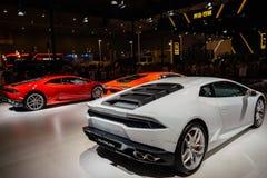 Achtergedeelte van Lamborghini Huracan, 2014 CDMS Stock Foto's
