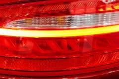 Achtergedeelte verlichte koplampen royalty-vrije stock afbeeldingen