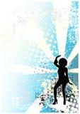 Achtergrond 1 van de disco vector illustratie