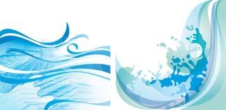 Achtergrond 10 EPS van het water Stock Afbeelding
