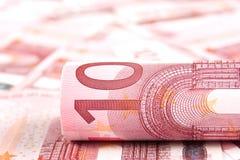Achtergrond 10 euro Royalty-vrije Stock Afbeelding