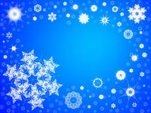 Achtergrond 103 van de sneeuwvlok Stock Afbeelding