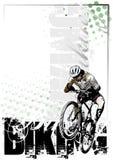 Achtergrond 2 van Biking royalty-vrije illustratie