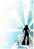 Achtergrond 2 van de disco stock illustratie