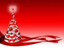 Achtergrond 2 van de kerstboom Stock Fotografie