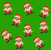 Achtergrond 2 van de Kerstman van Tileable Stock Foto's