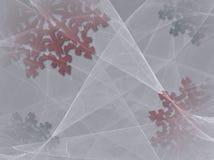 Achtergrond 2 van de sneeuwvlok vector illustratie