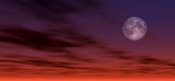 Achtergrond 2 van het maanlicht royalty-vrije illustratie