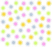 Achtergrond 2 van het Patroon van de Cirkels van de lente Roze Stock Afbeeldingen