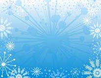 Achtergrond 2 van Kerstmis van de sneeuwvlok royalty-vrije illustratie