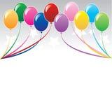 Achtergrond 3 van de ballon Stock Foto