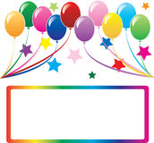 Achtergrond 3 van de ballon Royalty-vrije Stock Afbeeldingen