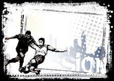 Achtergrond 3 van het voetbal Stock Fotografie