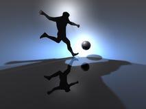 Achtergrond - 3D voetbal - stock illustratie