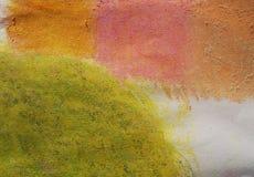 Achtergrond 4 kleuren van kleurpotlood Royalty-vrije Stock Afbeeldingen