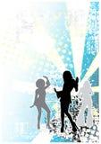 Achtergrond 4 van de disco Stock Foto