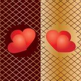 Achtergrond 5 van de valentijnskaart Stock Afbeeldingen