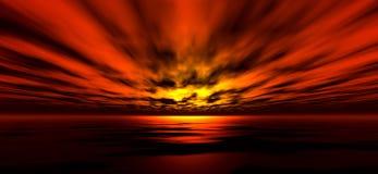 Achtergrond 5 van de zonsondergang royalty-vrije illustratie