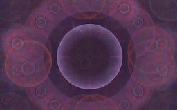 Achtergrond abstract patroon van lilac schaduwen in de vorm van cirkels en mist Royalty-vrije Stock Foto's