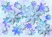Achtergrond abstracte lotusbloembloemen Stock Fotografie