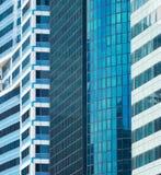 Achtergrond bedrijfsarchitectuurwolkenkrabber Singapore royalty-vrije stock afbeeldingen