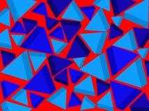 Achtergrond Blauwe driehoeken Vector stock illustratie