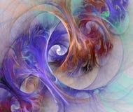 Achtergrond in blauwe en mauve tonen Stock Afbeelding