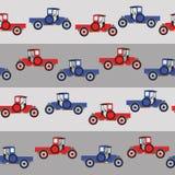 Achtergrond blauwe en rode beeldverhaal retro auto Royalty-vrije Stock Foto's