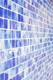 Achtergrond, blauwe kleur, glasbaksteen. Royalty-vrije Stock Afbeeldingen