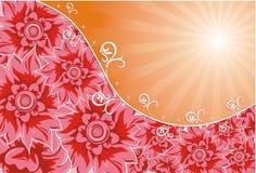 Achtergrond bloem, vector Stock Afbeelding