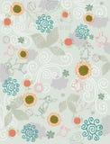 Achtergrond bloemen en dierenvector Stock Fotografie