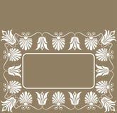 Achtergrond bloemframe, elementen voor ontwerp, vector Stock Afbeelding