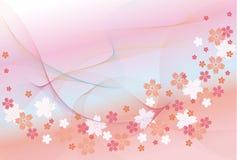Achtergrond bloesem Stock Foto