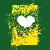 Achtergrond Braziliaanse vlagkleuren, abstractie Royalty-vrije Stock Foto