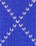 Achtergrond - close-up van gebreide textiel Royalty-vrije Stock Foto