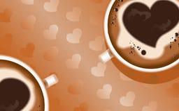 Achtergrond coffee3 Stock Fotografie