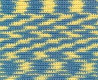 Achtergrond - crochet - geschakeerd garen Stock Afbeeldingen