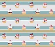 Achtergrond cupcake Royalty-vrije Stock Fotografie
